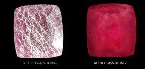 lead glass filled rubi