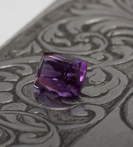 deep purple amethyst octagon gemstone
