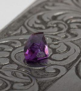deep purple amethyst octagon
