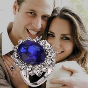 blue sapphire engagement ring kate middletone